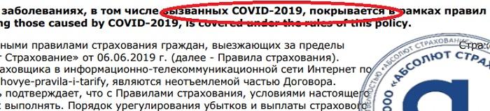 Абсолют Страхование от ковид-19